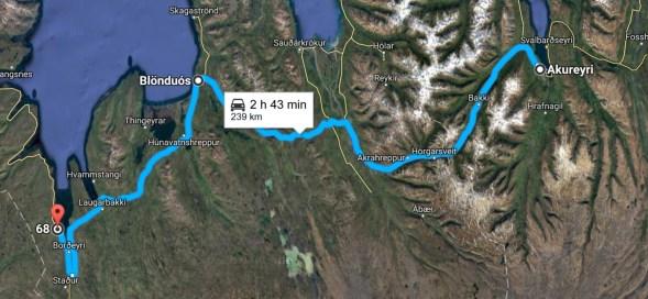Akureyri to Borðeyri