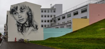 Street painting on Hafnkrstræti, Akureyri