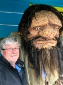 Trevor and a Troll in the main street of Akureyri
