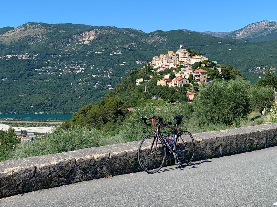 Steve and Carole in Vence - 73 Villages by Bike - Aspremont, Levens & La Roquette-sur-Var