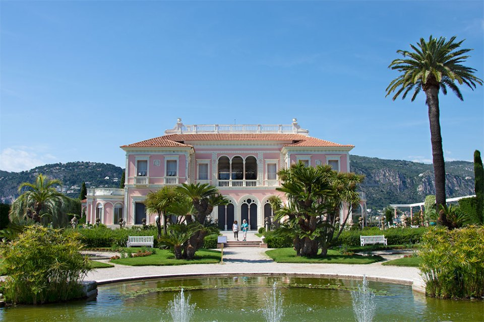 Carole Richmond at the Villa Ephrussi de Rothschild in Saint-Jean-Cap-Ferrat.
