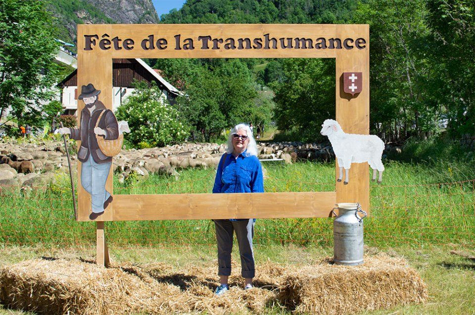 Carole at the Fête de la Transhumance in Saint-Étienne-de-Tinée