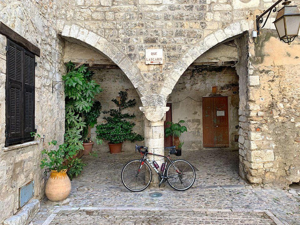 Steve and Carole in Vence - 73 Villages by Bike - Peillon, Peille, Sainte-Agnes, Roquebrune-Cap-Martin