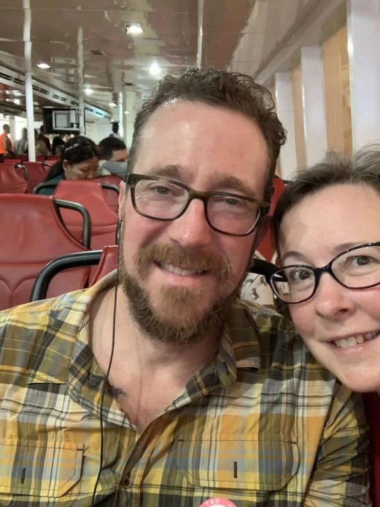 Steve and Noelle on the ferry