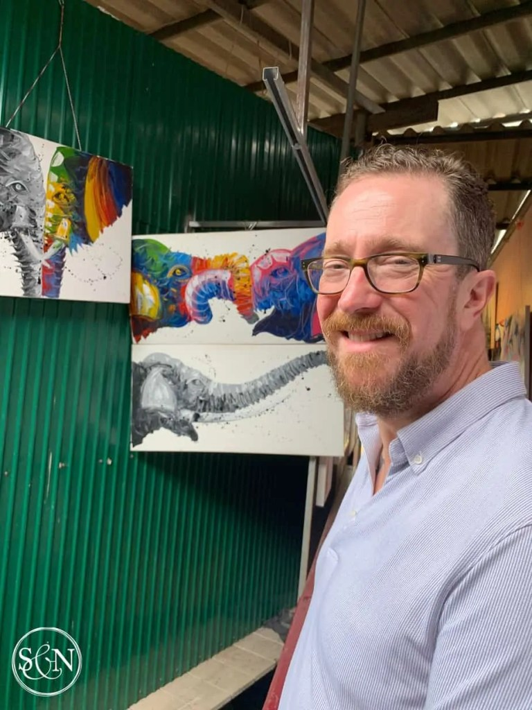 Artwork is one of many things to see at the Market on the docks