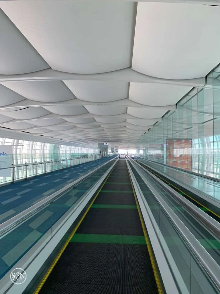 Empty terminal at Haneda