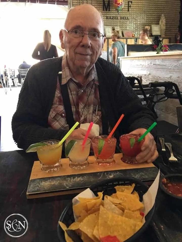 Dad enjoying margaritas