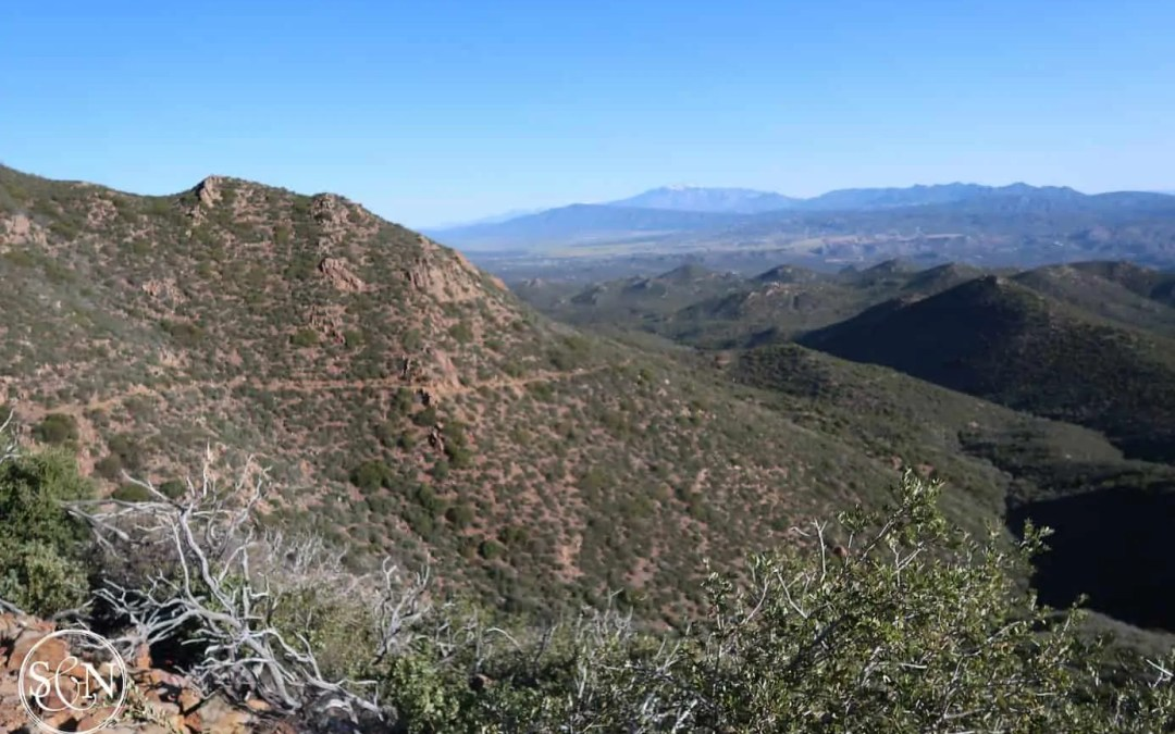 Pacific Crest Trail on the mountainside