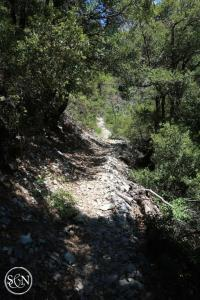 PCT steep rocky trail