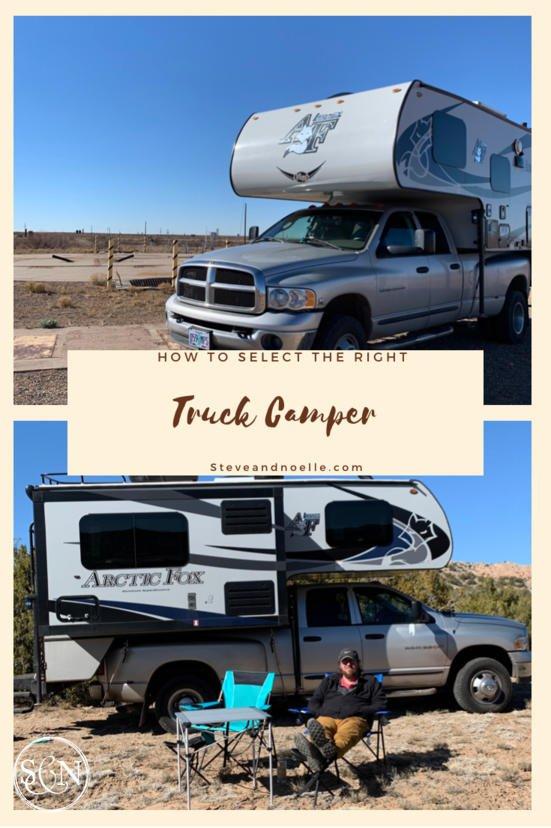 Truck camper selection