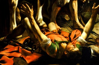 Detail from Caravaggio's The Conversion of St. Paul. 1601