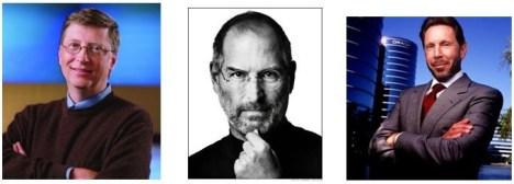 College Dropouts-Bill Gates, Steve Jobs, Larry Ellison