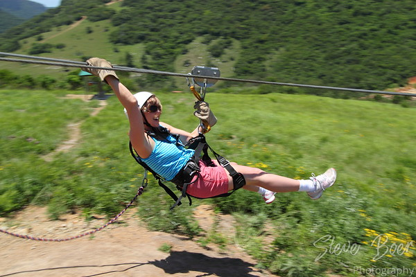 Zip line in Oribi Gorge