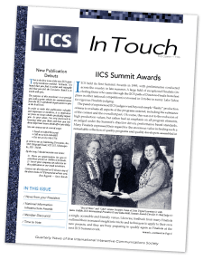 I found an old Pagemaker 6.5 layout file for the international newsletter I created in early 1996. Unfortunately the graphics and photos embedded within it are long gone—so those look fuzzy—but here is a PDF of it if you're interested in reading the copy.