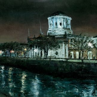 Four Courts: Dusk-at-Inns-Quay