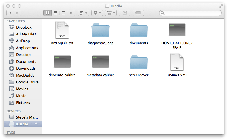 Kindle folder