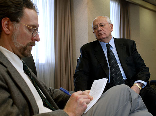 Among stories I did for the Omaha World-Herald was an interview of Mikhail Gorbachev.