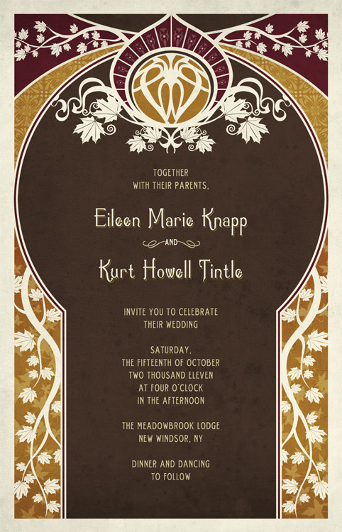 Art Nouveau Bridal Shower Invitation Vintage Calligraphy Wedding Printable Invitations By Divine Charm Digital Tictail