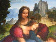 "Florence: Galleria degli Uffizi. Anonymous, ""Virgin and Child with St. Anne."""