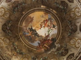 Ravenna: Basilica di San Vitale.18th Century baroque frescoes.