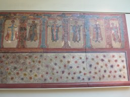 Painted wall from Lullingstone Roman villa, 4th century.