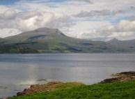 Mull: Across Loch Scridain.