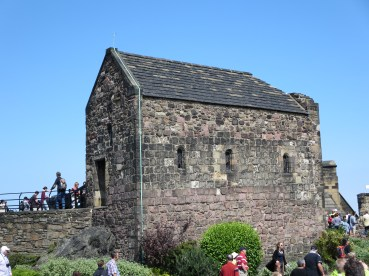 Edinburgh Castle: St Margaret's Chapel.