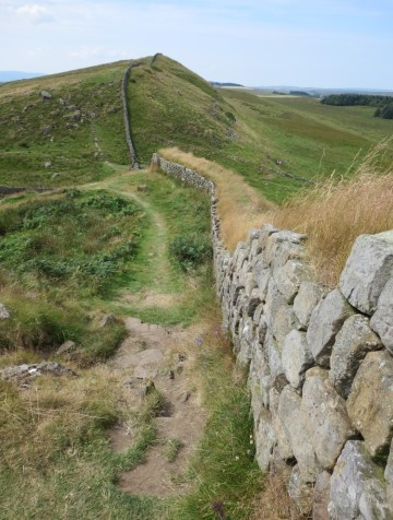 Hadrian's Wall at Housesteads Roman Fort.
