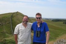 Hadrian's Wall at Housesteads Roman Fort: with my friend Andrew.