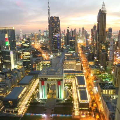 View over Dubai International Financial Centre