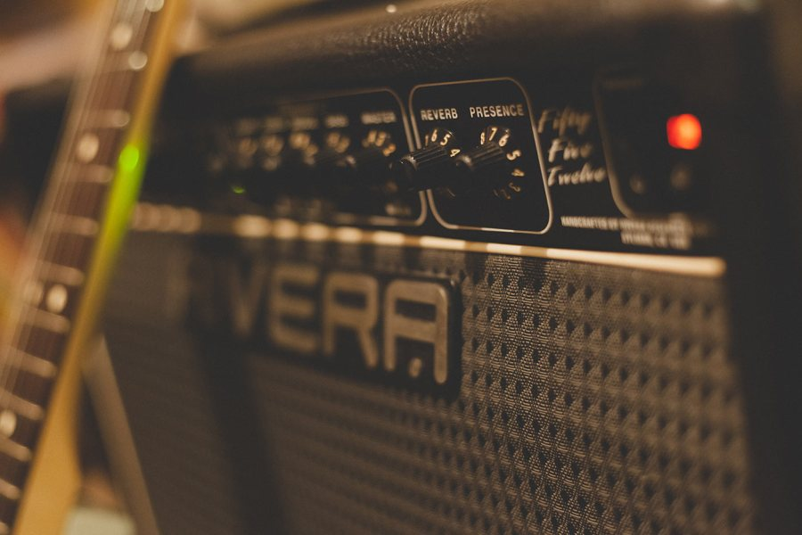 Close-up of a Rivera guitar amplifier