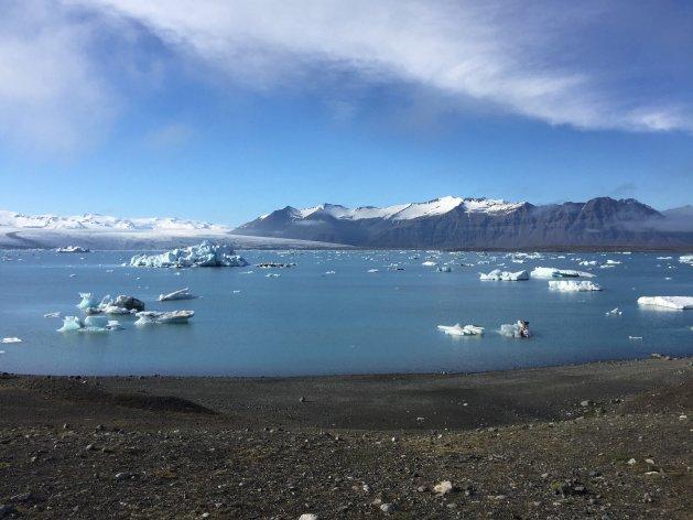 Fjallsárlón glacial lagoon in Iceland