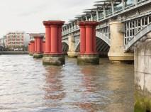 Blackfriars old & New Rail Bridges