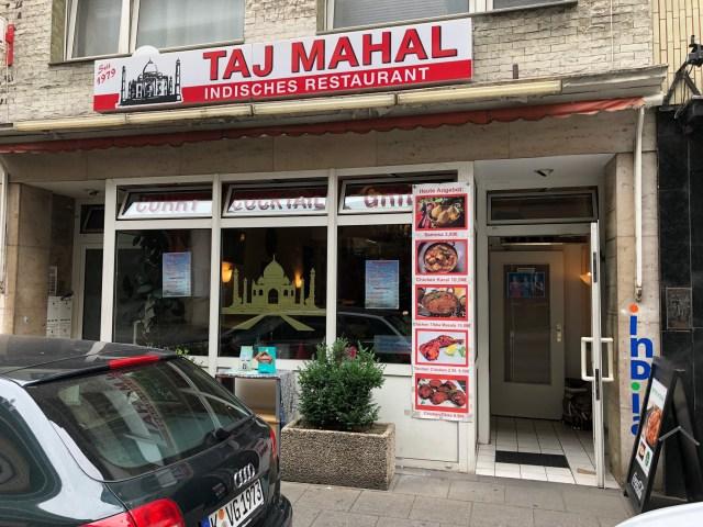 The Taj Majal, and Indian restaurant