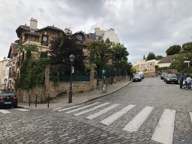 The view up the street from the Picasso's house