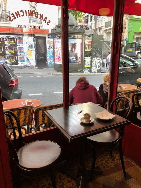I sat in this little nook right by the entrance and had 2 espressos and another croissant