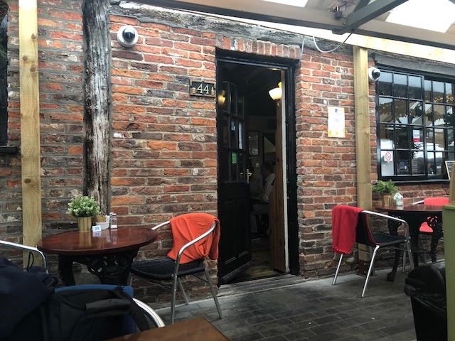 The back of Ye Old Shambles Tavern