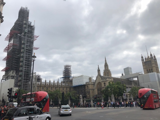 Current state of Big Ben and Parliament