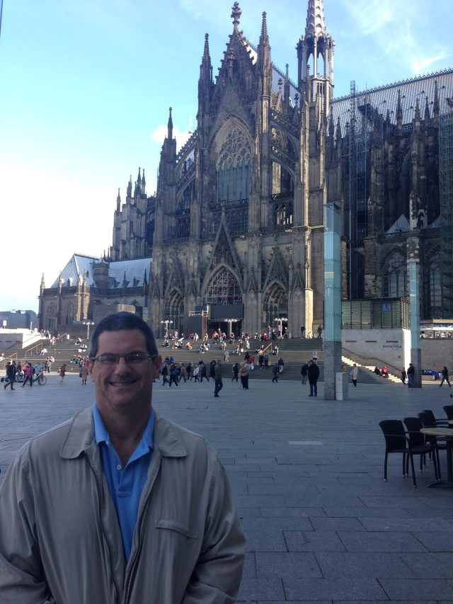 Cologne Cathedral next to the square outside the central train station