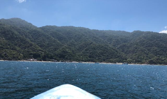 Approaching Playa Las Animas