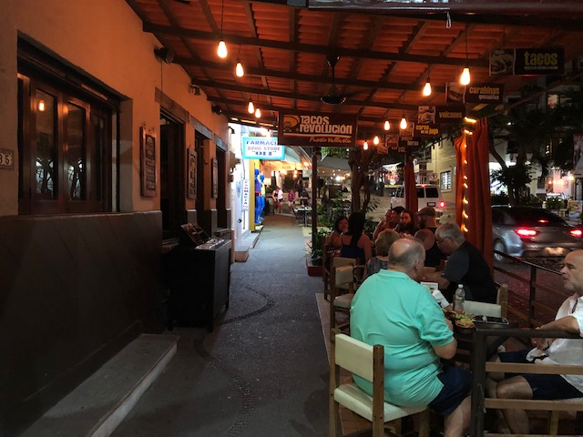 Tacos Revolucion from the sidewalk, with seating
