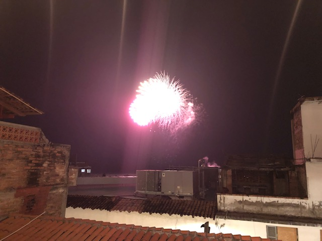 Fireworks from my hotel 2nd story landing