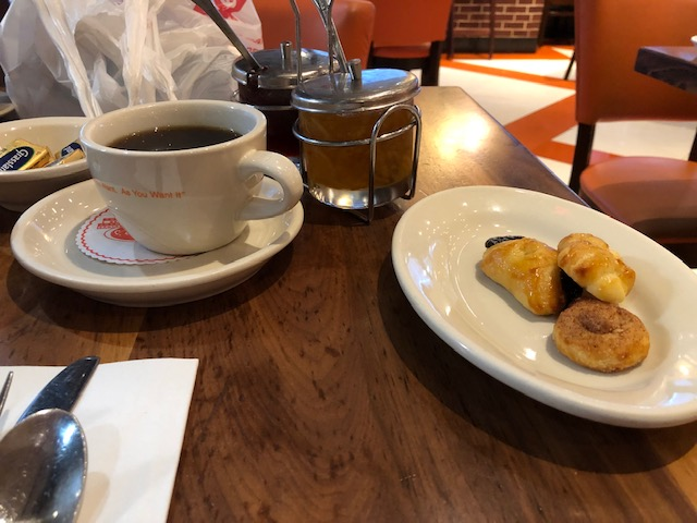 Coffee and pastry bites