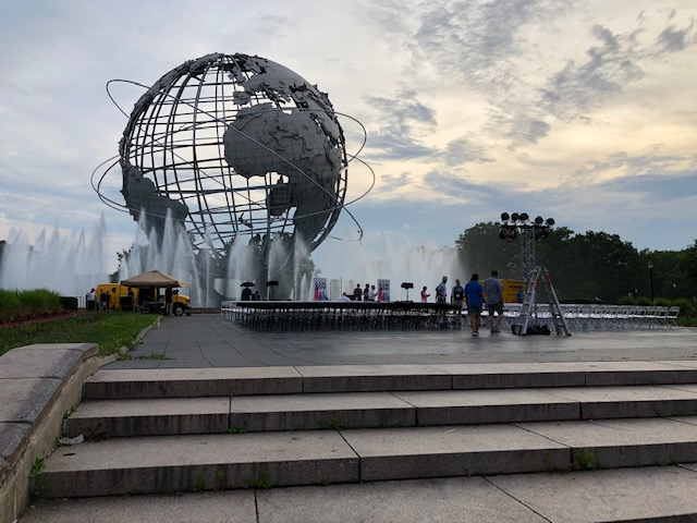 The stage in front of the Unisphere where our meeting was held