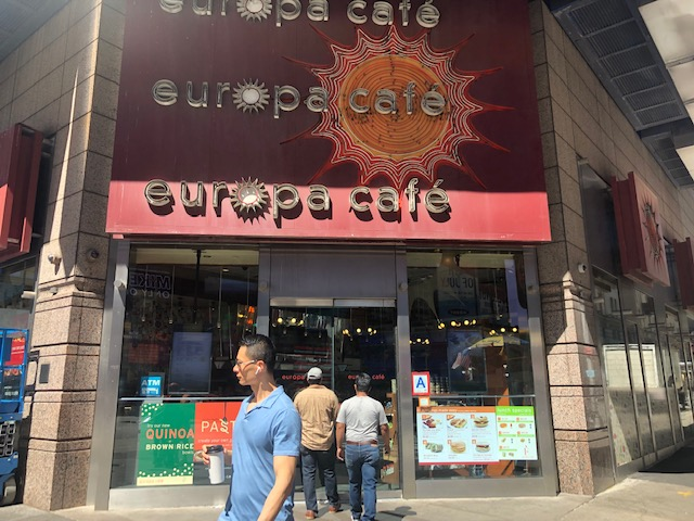 Entrance to Europa cafe