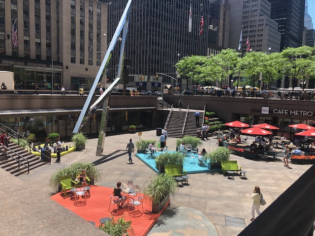 A sunken food court of sorts