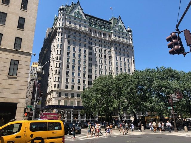 The outside of the Plaza from across 5th Ave