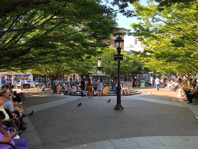 Fountain in Father Demo Square