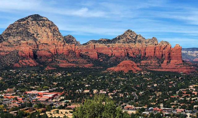 Sedona Mountains - layers of colored sediment