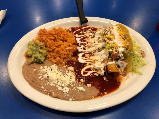 photo of Mexican dinner